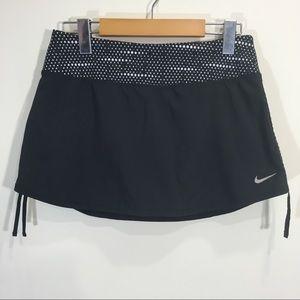 Nike Tennis Skort Shorts Black Polka Dot Neon